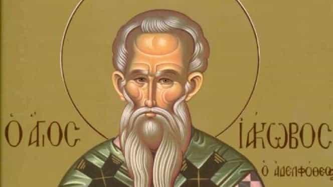 Miercuri, 23 octombrie, e sărbătoare. E pomenit Sfântul Iacob, fratele Sfântului Apostol Ioan