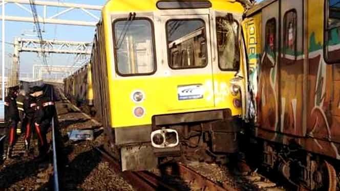Grav accident feroviar în Napoli! Mai multe persoane au fost rănite după ce trei trenuri s-au ciocnit