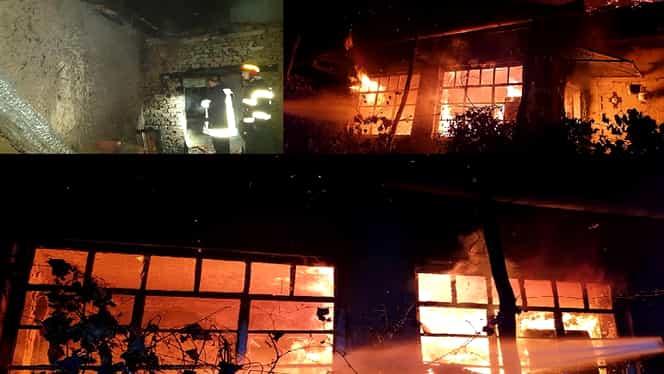 Incendiu puternic în comuna Rușeni din Satu Mare. O casă a fost mistuită de flăcări