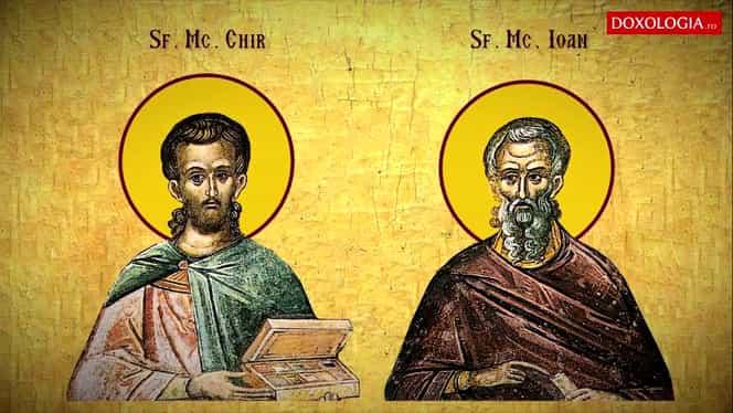 Calendar ortodox: vineri, 31 ianuarie 2020. Sunt cinstiți Sfinții doctori fără de arginți Chir și Ioan
