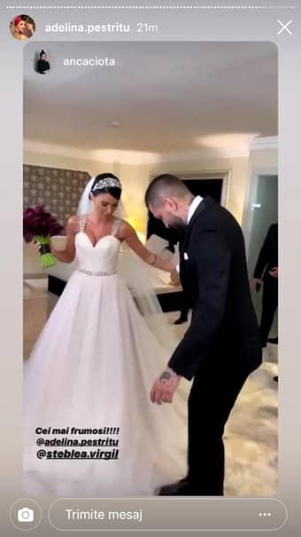 Adelina Pestriţu, primele imagini de la nunta cu Virgil Steblea. Cum arată mireasă. FOTO
