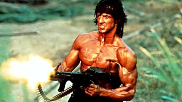 Sylvester Stallone, în rolul lui Rambo