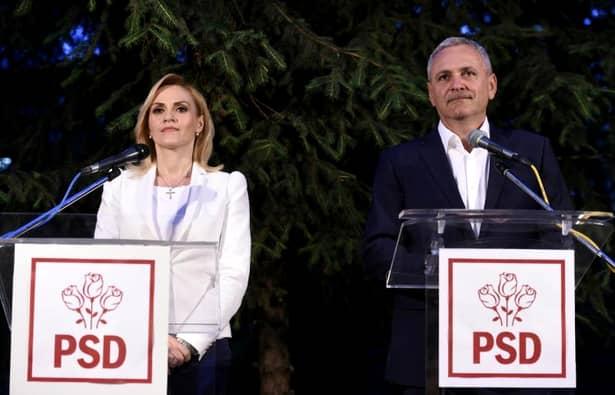 Gabriela Firea și Liviu Dragnea în campania electorală