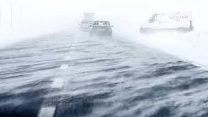 Alertă METEO de vreme severă imediată! Zăpadă spulberată de vânturile puternice