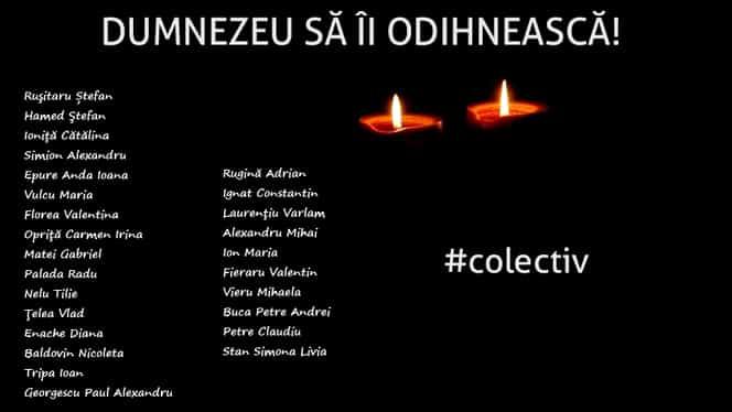 Bilanţul tragediei de la Colectiv: 30 de persoane decedate. Printre ei şi EROUL Claudiu Petre!