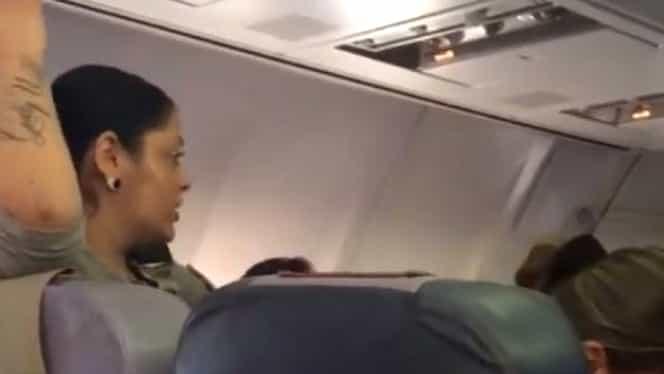 Video. Scandal într-un avion plin de români. De la ce a pornit totul