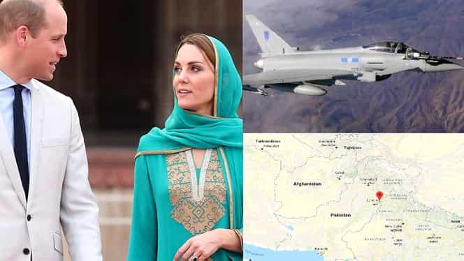 Kate Middleton și Prințul William au tras spaima vieții lor. Avionul în care se aflau a aterizat de urgență în Pakistan