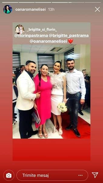 Oana Roman, ţinută elegantă la nunta lui Brigitte şi Florin Pastramă! Cum arată. FOTO