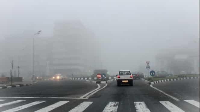 ANM a emis avertizare de ceață densă! Cod galben pentru mai multe județe din țară