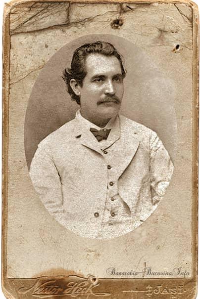 Mihai Eminescu la 34 de ani, în august 1884, fotografie făcută în Bucovina