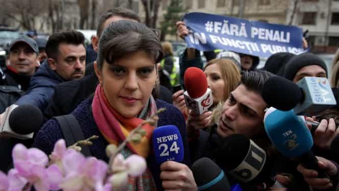 Laura Codruța Kovesi a fost audiată! Fosta șefă DNA, întâmpinată cu flori și aplauze. Primele declarații. VIDEO