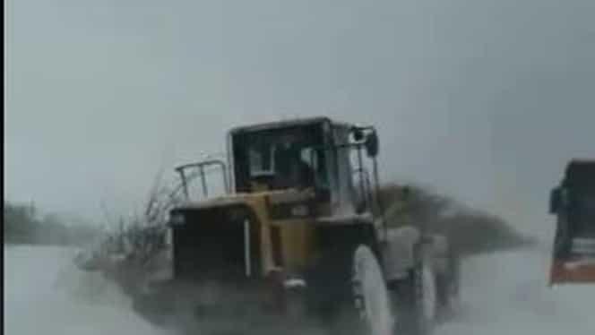 Viscolul puternic face ravagii în Oltenia. Mai multe drumuri au fost închise din cauza vremii nefavorabile VIDEO