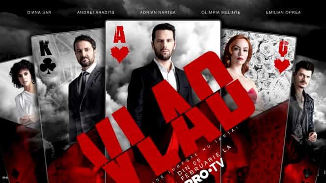 """Scene fierbinți de amor în serialul Vlad de la PRO TV! Cum își fac actorii """"de cap"""""""