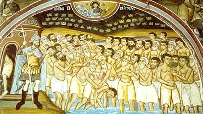 Calendar ortodox, 9 martie. Prăznuirea celor 40 de Sfinți Mucenici de la Sevastia