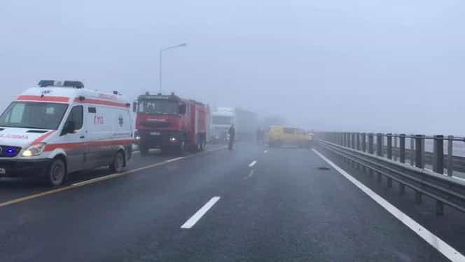 Grav accident pe Autostrada Transilvania! Trei persoane au fost rănite. VIDEO