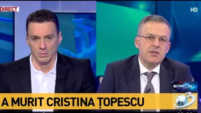 """Mircea Badea, despre moartea Cristinei Țopescu: """"Mă revolt din fiecare celulă a corpului meu"""""""