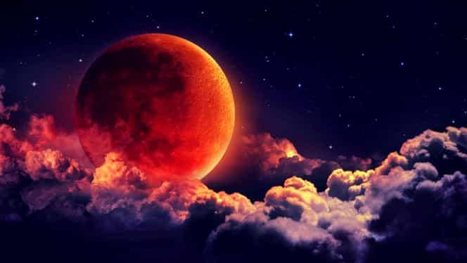 Superluna sângerie: când este vizibilă eclipsa totală în România. Tot ce trebuie să știi