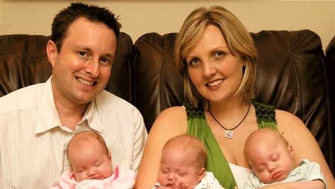Un cuplu și-a pierdut cei 3 copii într-un accident. 6 luni mai târziu au aflat că vor avea tripleți. FOTO