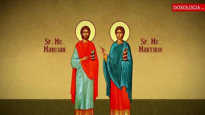 Calendar ortodox, vineri, 24 octombrie. Sunt cinstiți Sfinții Mucenici Marcian și Martirie, zi de post