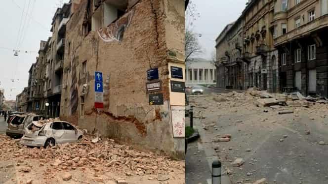 Cutremur puternic în Croația soldat cu pagube materiale și cel puțin 10 răniți. Oamenii au uitat de carantina de coronavirus și au ieșit pe străzi