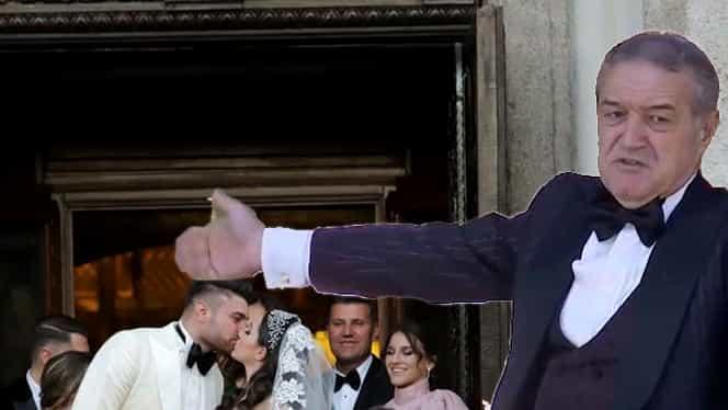"""Gigi Becali a ţinut un discurs la nunta Teodorei Becali! Toţi au izbucnit în râs: """"Păi ce, să ne comande tata?"""" VIDEO EXCLUSIV"""