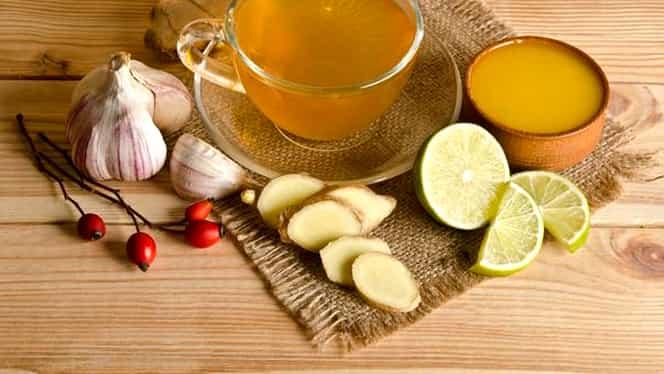 Ghimbir, lămâie și usturoi cu apă – Rețeta pe care o recomandă medicii