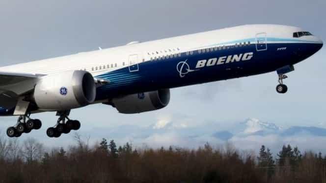Boeing 777X a efectuat primul zbor. Este cel mai mare avion cu două motoare din lume