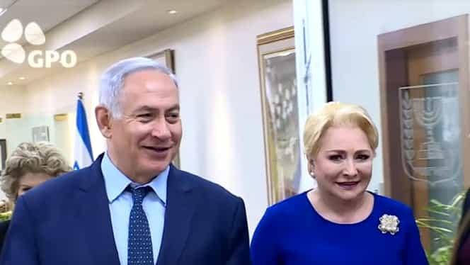 Culisele vizitei lui Dăncilă în Ierusalim! Ce i-a spus Netanyahu când a văzut-o. VIDEO
