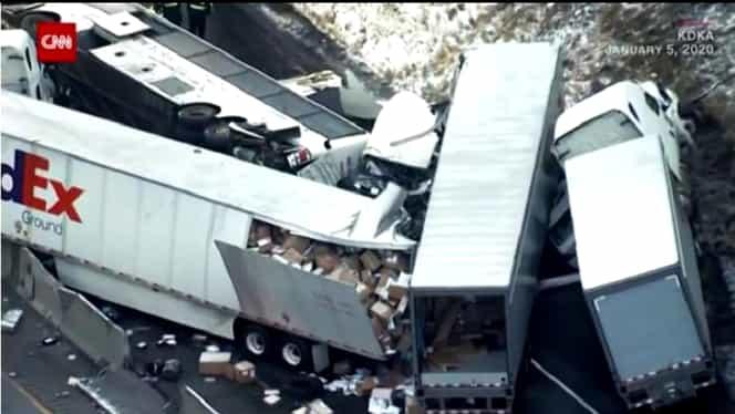 Accident înfiorător în SUA! Bilanț cutremurător: 5 morți și 25 de răniți
