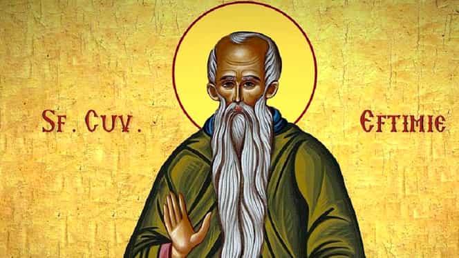 Calendar ortodox 20 ianuarie 2020. Sfântul Eftimie cel Mare, trecut cu cruce neagră, sărbătorit de creștini mâine