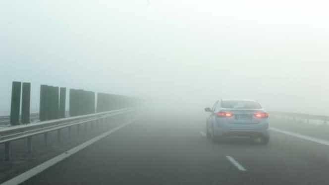 Cod Galben de ceață în București. Mai sunt afectate alte 12 județe