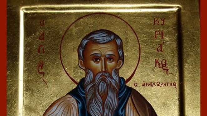 Calendar ortodox, 29 septembrie: pomenirea preacuviosului părinte Chiriac Sihastrul