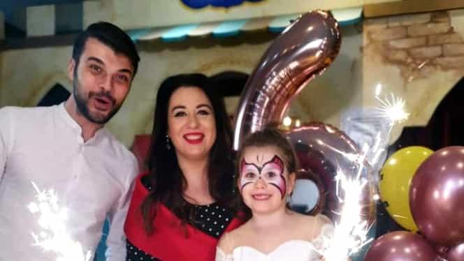 Oana Roman și Marius Elisei, din nou împreună de dragul fiicei lor! Micuța Isabela a împlinit 6 ani