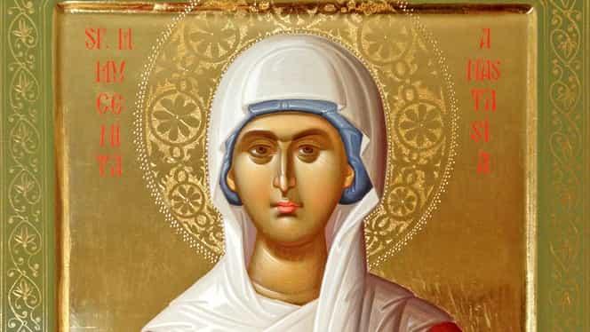 Calendar ortodox 29 octombrie. Este prăznuită Sfânta Anastasia