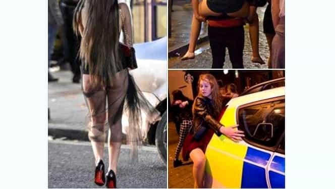 Galerie FOTO. DEZMĂŢ TOTAL de Revelion! Femeile s-au ÎMBĂTAT şi s-au dat în spectacol! Imaginile DEPRAVĂRII