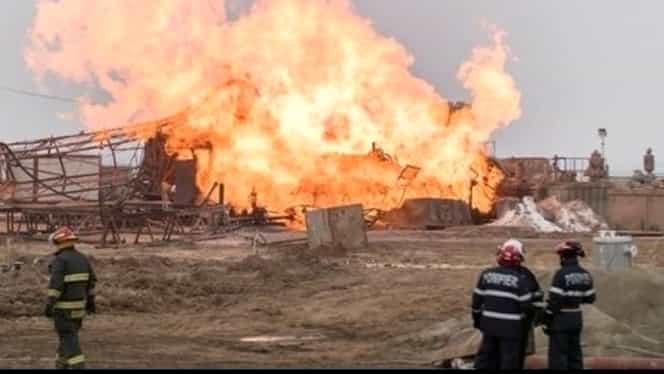 Incendiul de la sonda de gaze din Satu Mare arde de mai bine de opt zile! Ce vor să facă pompierii!