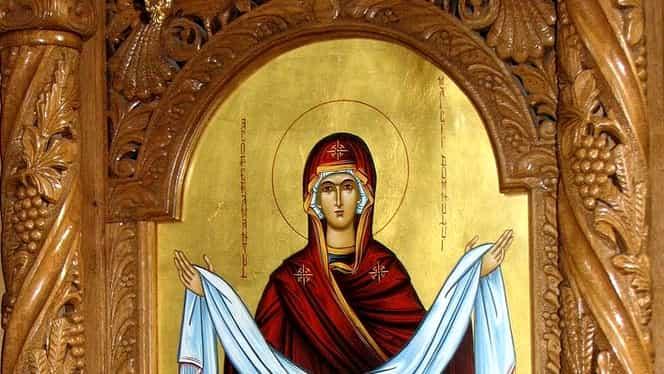 Marţi, 1 octombrie, e Acoperământul Maicii Domnului! Sărbătoare cu Cruce Roşie