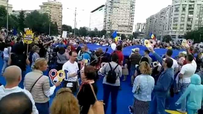 Proteste în București și în ţară. Mii de oameni în Piaţa Victoriei