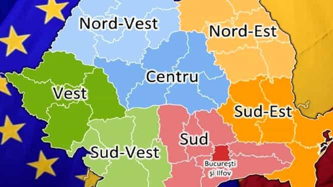 Guvernul a început regionalizarea României în documente. Județele țării, reorganizate