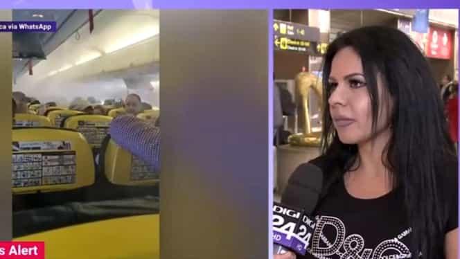 """Mărturia unei pasagere de pe cursa Ryanair București-Londra: """"A începus să iasă fum, abur înecăcios. Toată lumea s-a speriat"""""""