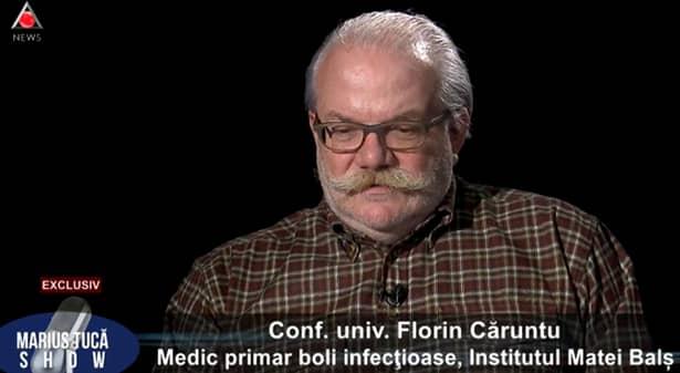 Florin Căruntu, șef secție la Institutul Matei Balș, mesaj dur despre coronavirus! Căruntu