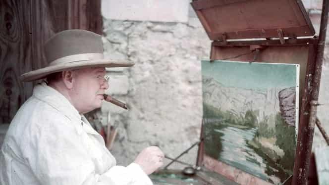 Ultimul tablou pictat de Winston Churchill, vândut cu peste 400 de mii de euro!