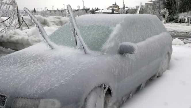 """Meteorologii anunţă un nou fenomen extrem. După viscol şi ger urmează """"ploaia îngheţată"""""""