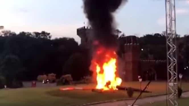 Mireasă prăbușită cu elicopterul în fața invitaților! Totul a fost filmat!