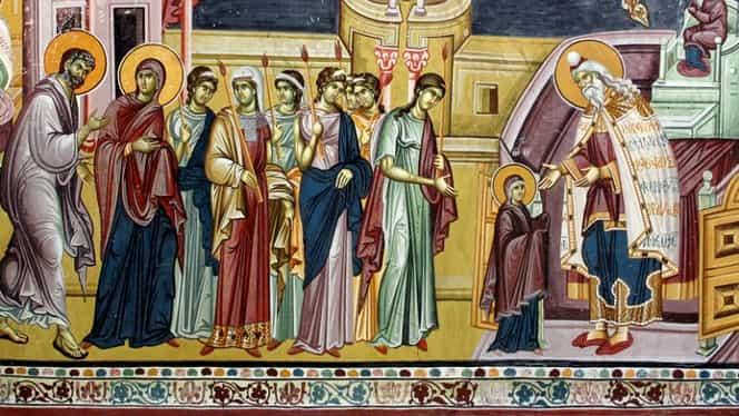 Calendar ortodox, 21 noiembrie: intrarea în Templu a Fecioarei Maria