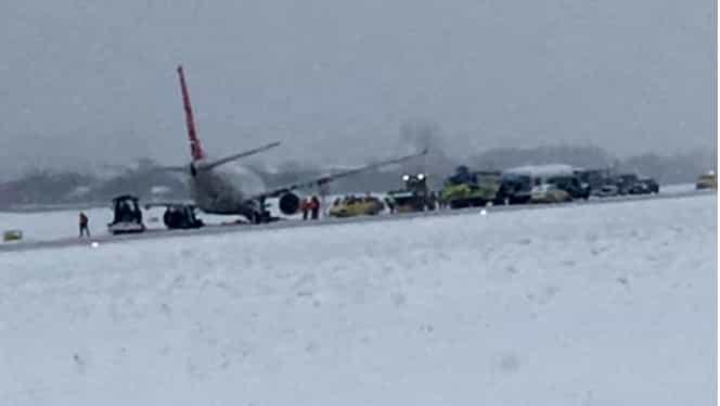 Incident aviatic! O aeronavă a ieșit de pe pistă pe un aeroport din Ucraina