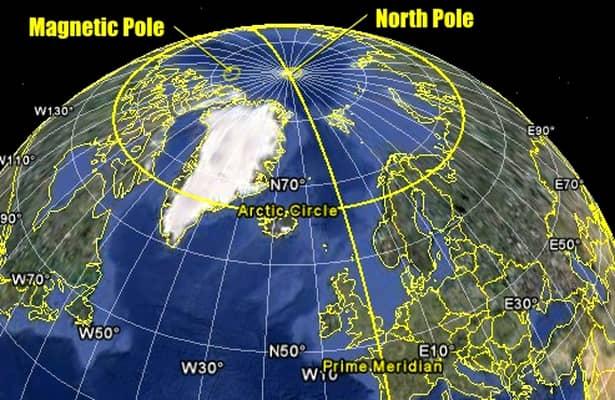 Cum s-a deplasat Polul Nord magnetic! Motivul pentru care s-a întâmplat asta. Harta estimativă