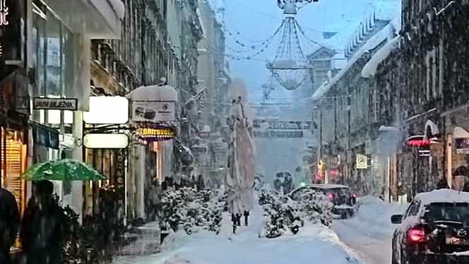 La noi e soare şi cald şi în Spania ninge! Croaţia, cea mai lovită de vremea rea