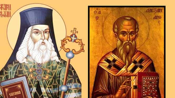 Calendar ortodox vineri, 30 august 2019. Sunt pomeniți Sfântul Ierarh Varlaam și Sfântul Alexandru