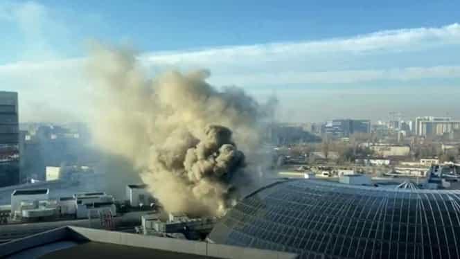 ALERTĂ! Incendiu la AFI Cotroceni! Toți oamenii au fost evacuați